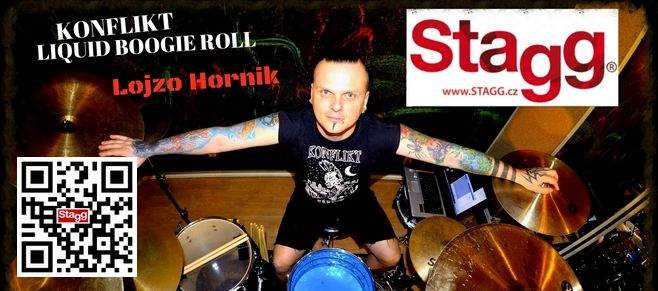 Lojzo Hornik from punk group Konflikt