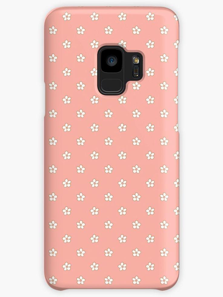 #peach #flower #polka #dots #polkadots #tiny #little #wee #blossom #fresh #calm #Springtime #Pastel #Flowery #garden #fresh #girly #Mia #redbubble #samsung #galaxy #case