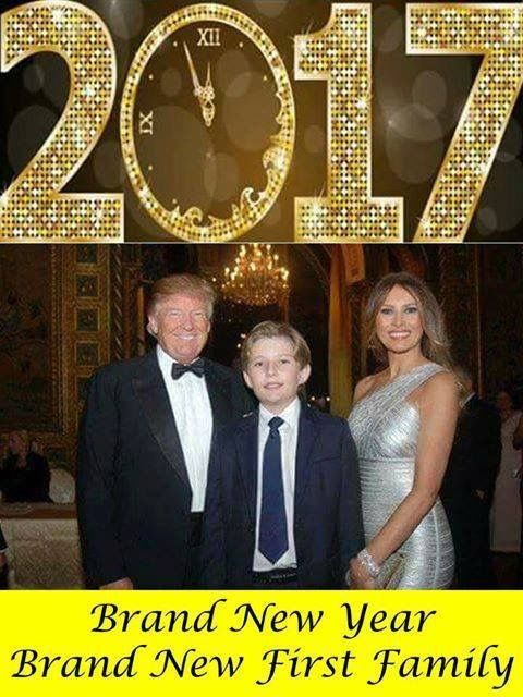 2017: Brand new year, brand new first family.