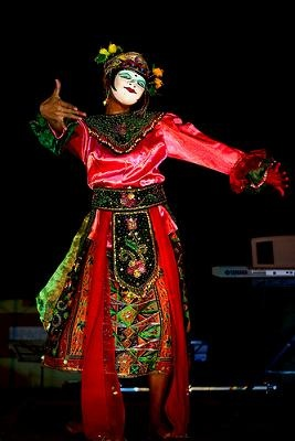 Topeng dance, Betawi People,  Jakarta, Indonesia.
