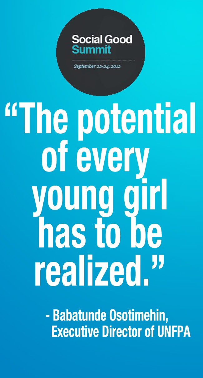 17 best images about girls education quotes united the potential of every young girl has to be realized babatunde osotimehin sgsglobal
