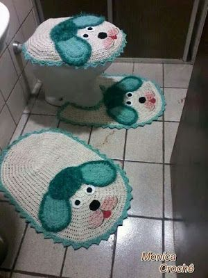 Puppy Bathroom Set: Sweet Crochet ♡