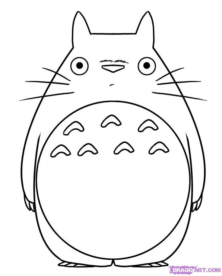 Totoro Coloring Pages Totoro Drawing Totoro Diy Totoro Party