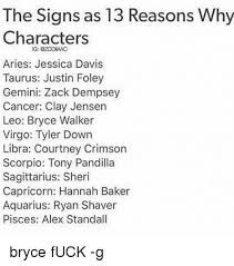 Image result for zodiac signs as 13 reasons why characters