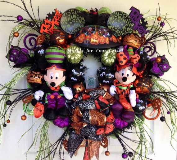 Disney Halloween Wreath with Mickey and by SparkleForYourCastle, $199.00