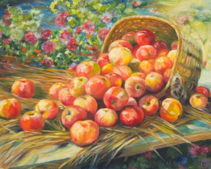 моя копия по картине Сычкова Федота. Алма-атинские яблоки.