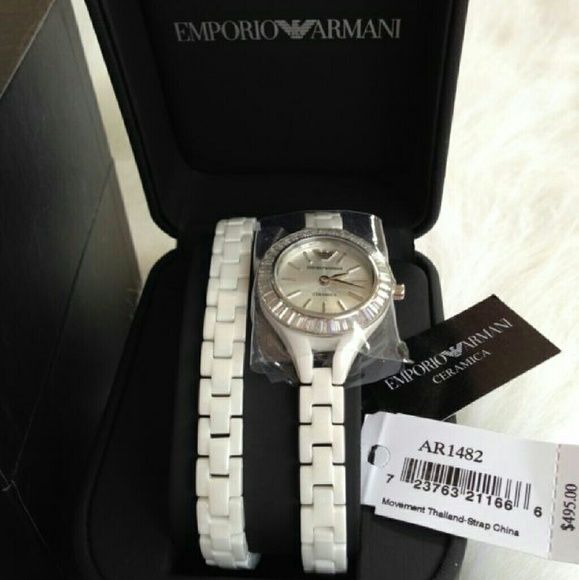 Emporio Armani Ceramica Watch This Watch is in great/new condition. Authentic Emporio Armani Ladies cer?mica watch. Double wrap strap.  MSRP $495.00 Emporio Armani Accessories