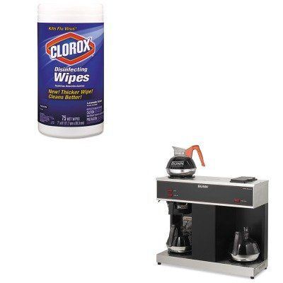 KITBUNVPSCOX01761EA - Value Kit - Bunn Coffee Pour-O-Matic Three-Burner Pour-Over Coffee Brewer (BUNVPS) and Clorox Disinfecting Wipes (COX01761EA)