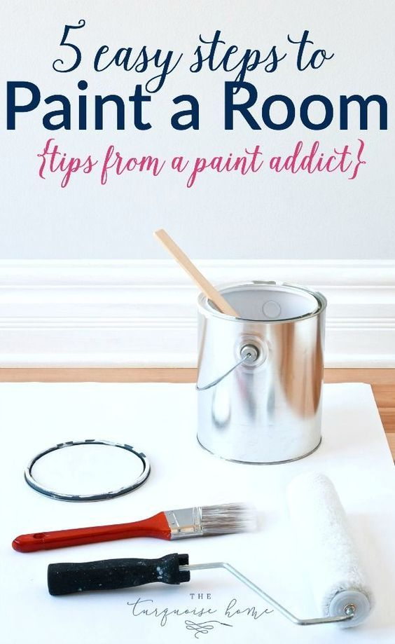These steps are SO easy to follow! LOVE the extra tips for quickly transforming a room on the cheap! 5 Easy Steps for Painting a Room: Tips from a Paint Addict | TheTurquoiseHome.com