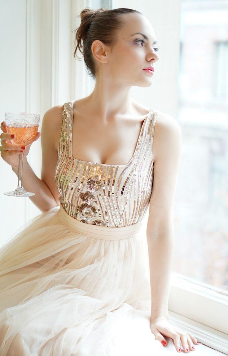 ASOS Little Mistress Sequin Midi Dress
