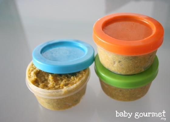 Baby Gourmet Blog: Papilla de verduras y pollo (papillas bebés a partir de 6-7 meses)