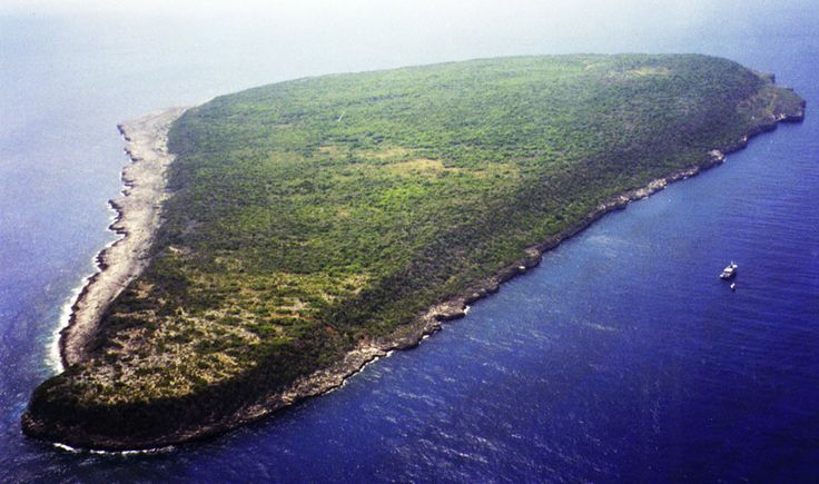 Aerial view of Navassa Island
