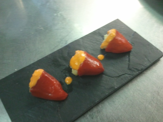 Pimientos rellenos de marisco: Peppers, Seafood, Fillers, Gastronomy, Chili, Stuffed Peppers
