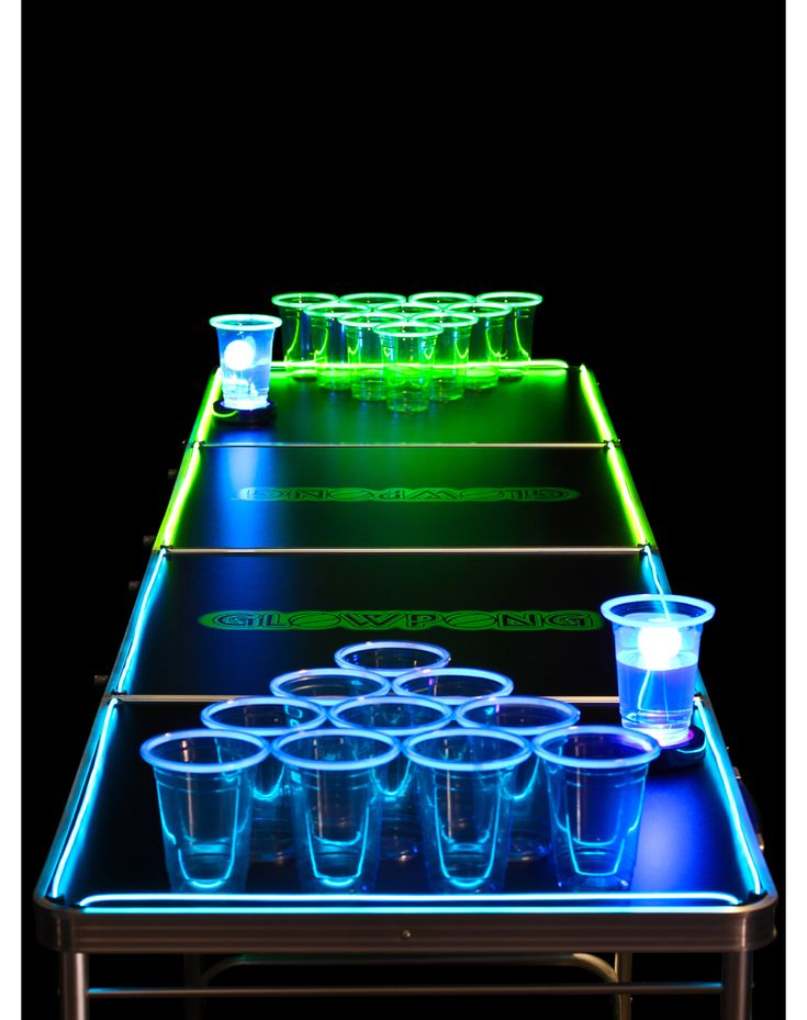 check out this glow in the dark beer pong at http www. Black Bedroom Furniture Sets. Home Design Ideas