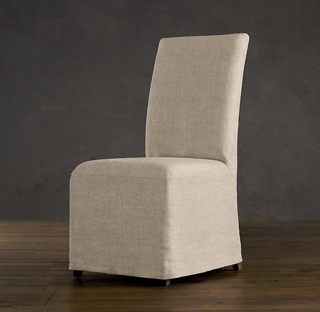 hudson parsons slipcovered side chair in white or sand belgian linen dimensions overall 20