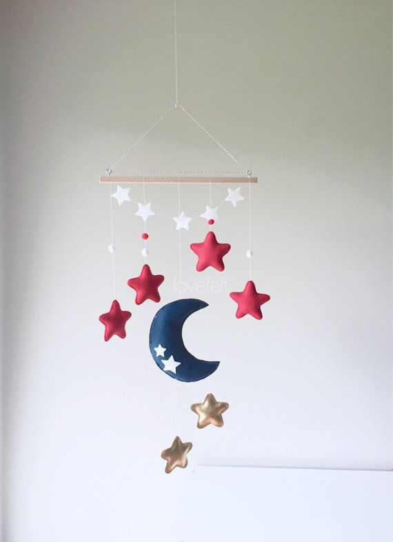 Bébé+mobile++lune+et+étoiles+mobile++mobile+lune++lune+et