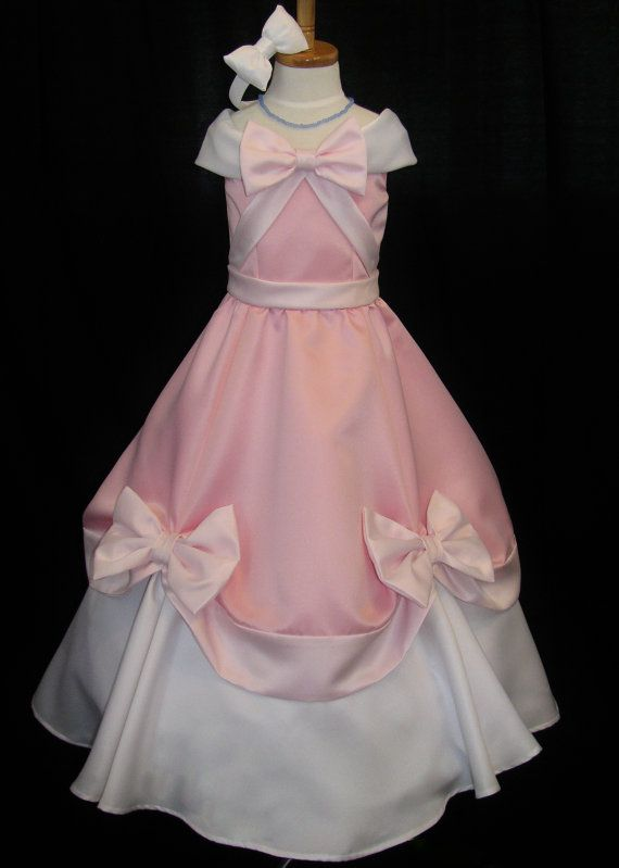 Adult Pink Cinderella Gown That The Mice Made by NeverbugCreations, $600.00----- @Courtney Baker Bryce look it!!!