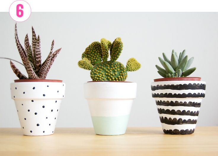 Hobbies Succulent Plants Or The Like Has Turn Out To Be A New Trend At The  Moment, So I Believed I Would Share Some DIY Painted Plant Pots From All  More ...