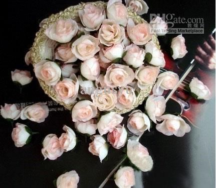 Wholesale Decorative Flowers & Wreaths - Buy Ivory Artificial Silk Roses Heads Flower, $0.12 | DHgate