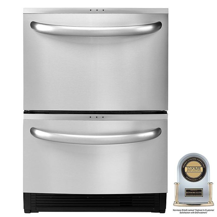 """Kenmore Elite - 31334 - 24"""" Double Drawer Dishwasher with Sliding & Variable Position Tines (1334)   Sears Outlet"""