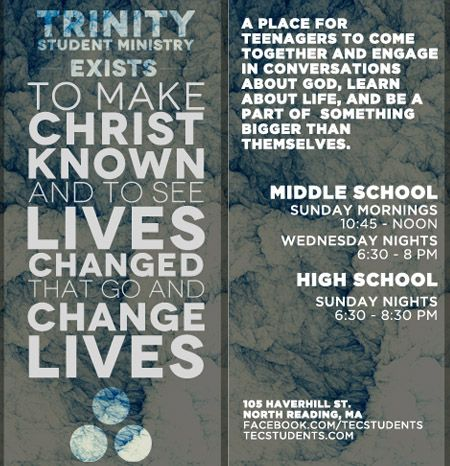 youth ministry brochure | Youth Ministry | Pinterest ...
