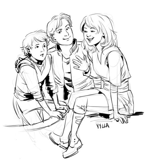 Jaina, Jacen, and Anakin Solo for Cati!