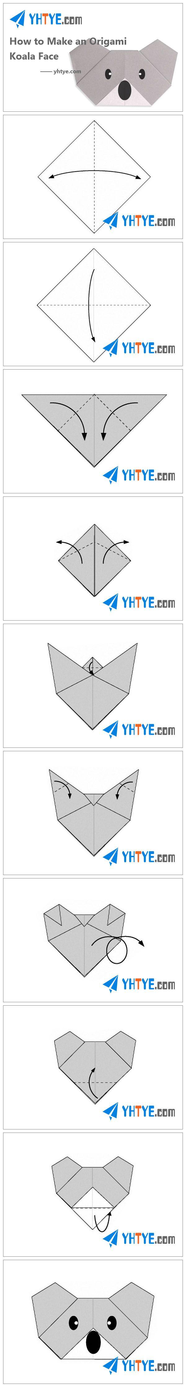 How to Make an Origami Koala Face