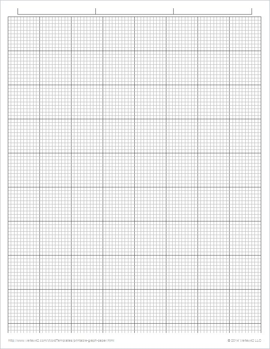 Free Printable Engineering Graph Paper 110 Inch Pdf From Vertex42    Printable Graph Paper