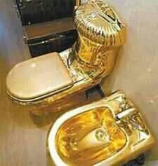 Million Dollar Toilet   Park your glutes on this throne and you may never  be the same  Called  Moscow  the gold plated toilet was displayed in  Russia and  15 best Gold Toilets   images on Pinterest   Boxer  Estate agents  . Solid Gold Toilet Seat. Home Design Ideas
