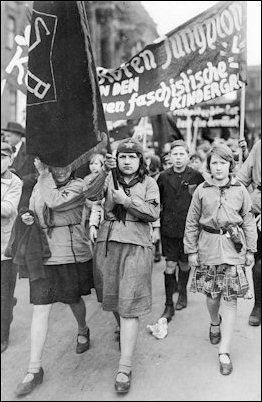 Communist youths in Berlin demonstrate on May Day 1931.