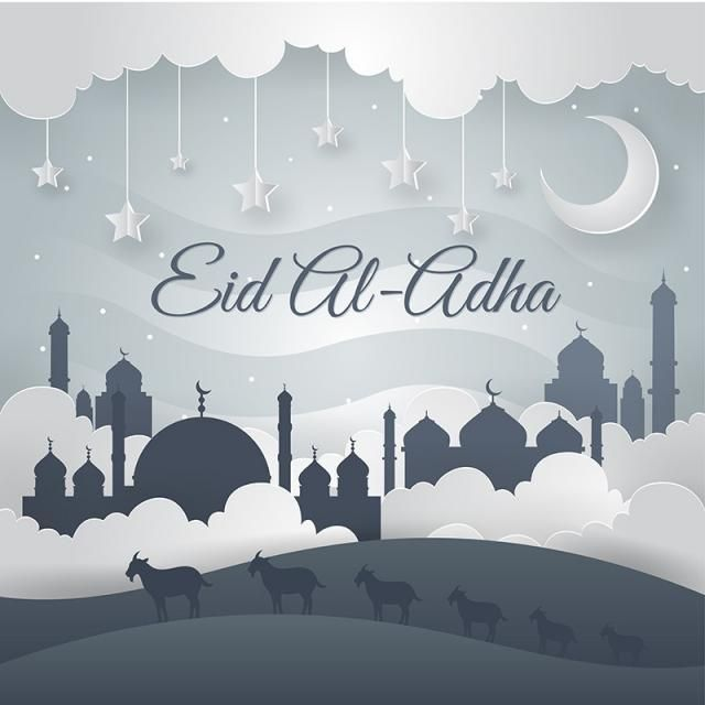 Modern Art Islamic Eid Al Adha Card Illustration Eid Al Adha Eid Al Adha Mosque Islamic Png And Vector With Transparent Background For Free Download Adha Card Card Illustration Eid Al