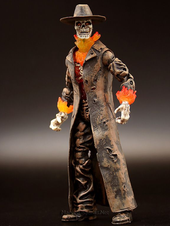 this is the Hasbro Ghost Rider Movie Caretaker he is a great figure to add to your ghost rider collection because he look comicy enough to go with your comic ghost rider collection happy pinning