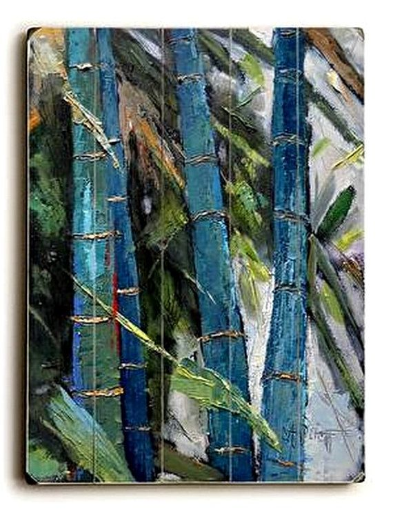 Bamboo Wood Wall Decor : Bamboo wall decor distressed wood by