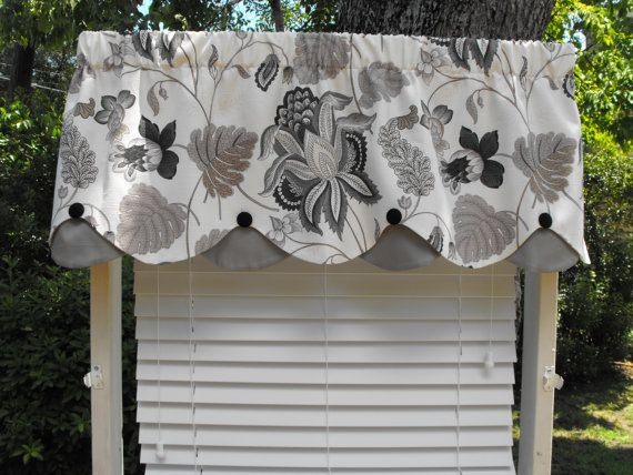 Window valance beautiful valance scalloped by LaTeDaWindows