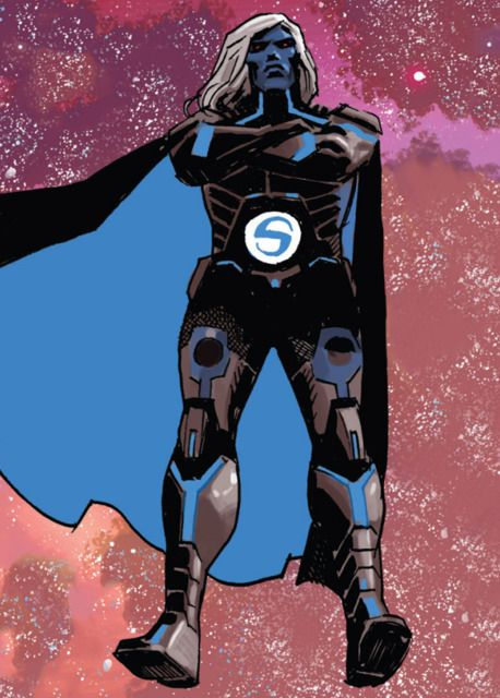 Robert Reynolds became the Sentry, one of the first and mightiest superheroes after ingesting an experimental super-soldier formula. He is trapped in a constant battle with his darker side known as the Void. Most recently, the Sentry was resurrected by the Apocalypse Twins as one of their Horsemen, the Horseman of Death.