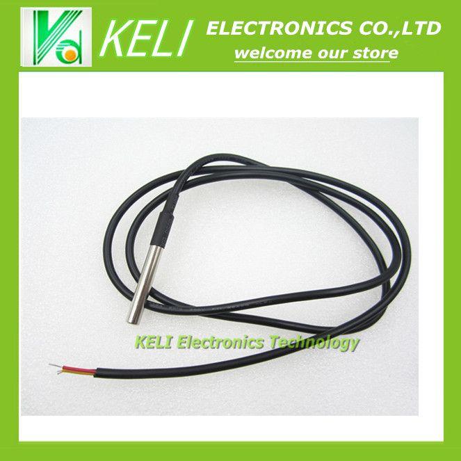 1 pcs DS18B20 Stainless steel paket 1 meters waterproof DS18b20 pemeriksaan suhu sensor suhu 18B20