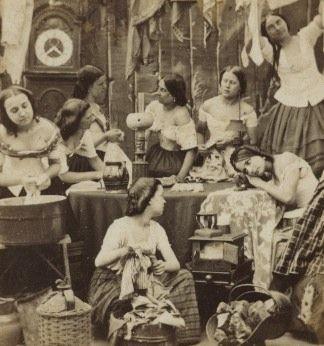 Les Blanchisseuses. - Antiq Photo - Musée - [( 03. Vues stéréo|supprimer_numero)] - Achat, vente et estimation gratuite d'appareils photos anciens, de photographies de collection et de daguerréotypes.