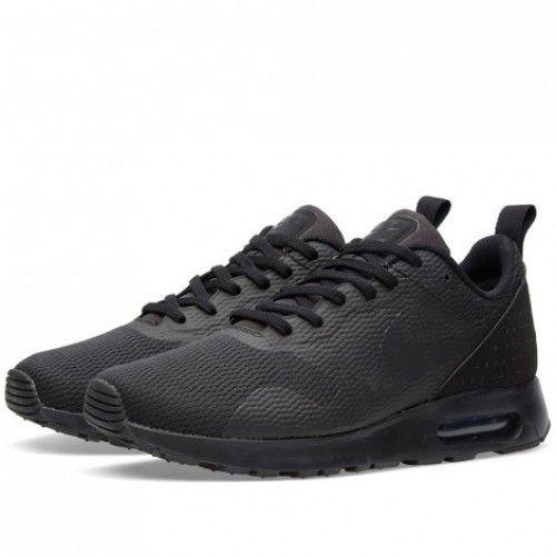 Nike Air Max Tavas All Black White Mens Shoes & Trainers Sale Cheap