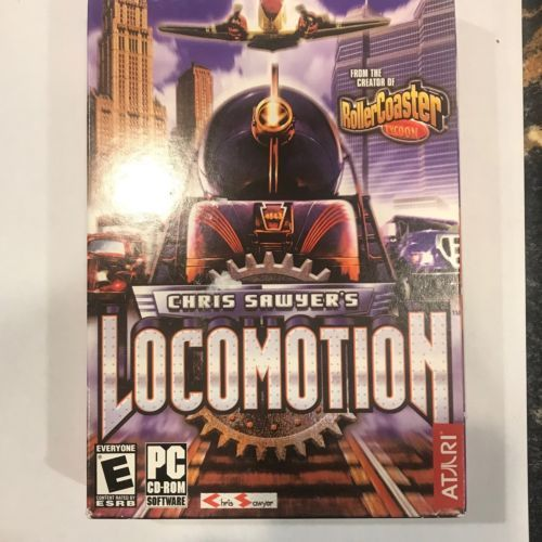 Chris Sawyer's Locomotion [PC-DVD Computer, Region Free, Train Simulation] NEW
