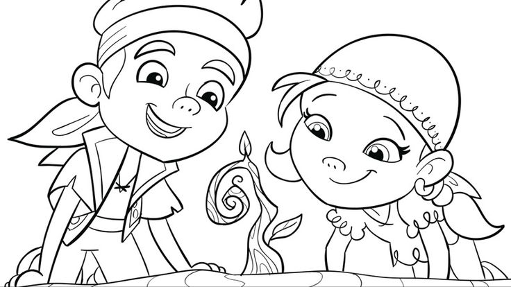 Disney Junior Coloring Pages Jake : Jake and the never land pirates coloring pages crafts