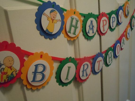 Caillou Happy Birthday Banner Party Banner by MoreThanaCupcake, $20.00