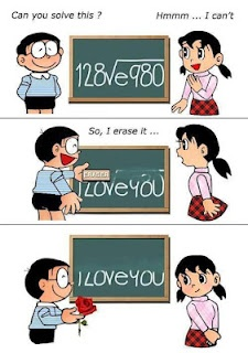This funny picture shows a very interesting way to say I love you.