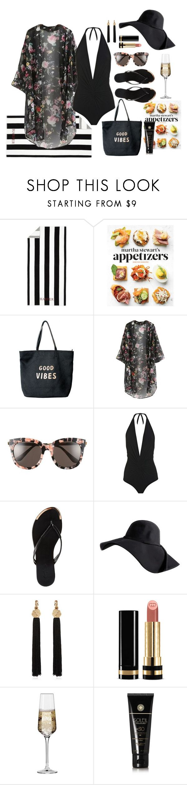 """"""":Pool Party:"""" by jessica-gonzatto ❤ liked on Polyvore featuring Pottery Barn, Martha Stewart, Venus, Gentle Monster, Karla Colletto, Charlotte Russe, Yves Saint Laurent, Gucci, Krosno and Soleil Toujours"""