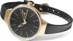 Hoops Cherie Diamond Gold Ladies Black 2483LGD07