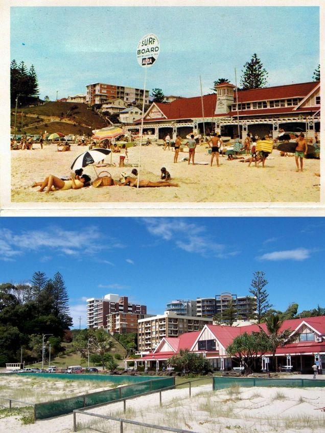 02 Kirra Qld, Surfing Beach & Headland 1960 and 2010