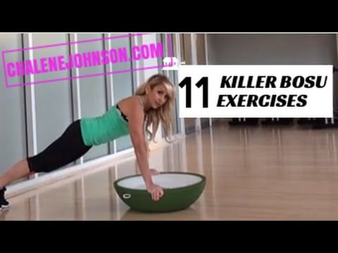 #FitnessFriday with Chalene Johnson.  www.chalenejohnson.com/piyo  Bosu Exercises for Cardio and HIIT Training. Unique exercises to help you find creative and effective ways to use your boss for HIIT training and additional calorie blasting cardio work with Chalene Johnson for a great Home Workout.