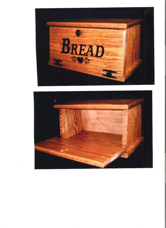 Oak Wooden Bread Box. $40.00, via Etsy.