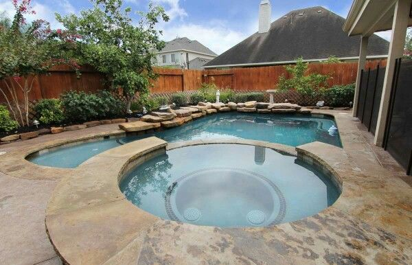 Love this pool, size, spa, tanning ledge. I want to find ...