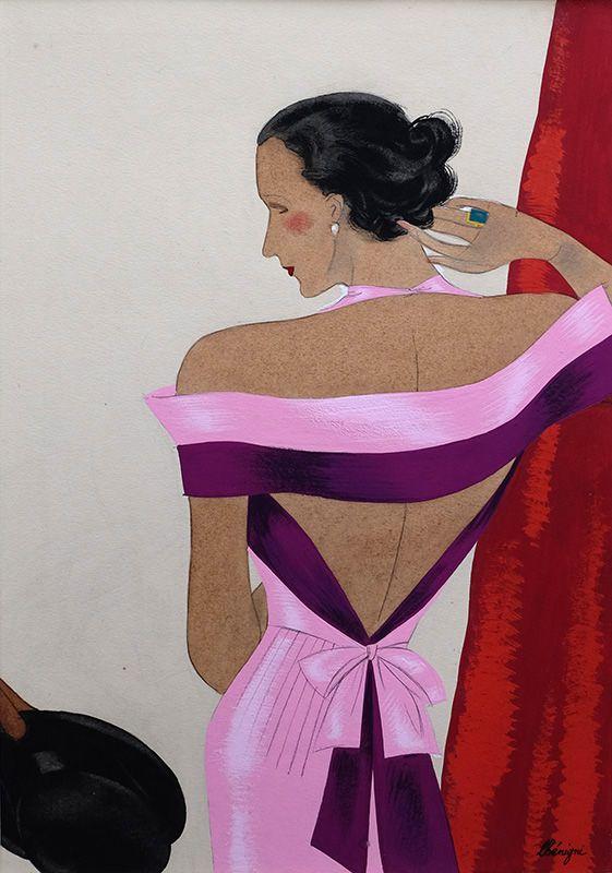 'Symphonie, robe du soir pour Jean Patou' by Leon Benigni