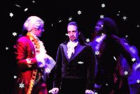 """King George III, saying, """"WHAT DID I SAY?!?!?! I called this!!!!"""" by throwing the Reynolds Pamphlet in Hamilton's face. The sad thing about this GIF is that you feel horrible, seeing Hamilton look so destroyed. However, this is perfect proof that Jonathan Groff is wonderful and King George III is the King of SASS."""
